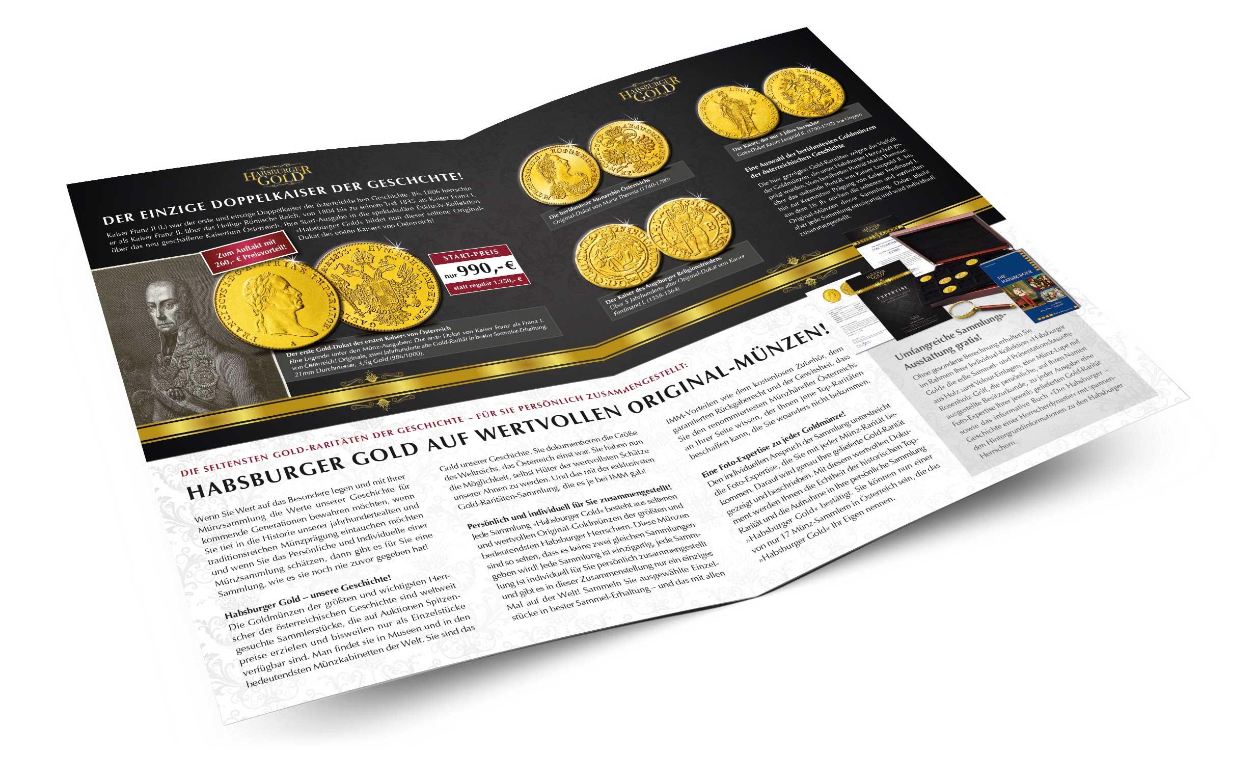 Habsburger Gold Prospekt, Innenseiten